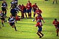 Rugby Union in Germany . Centenary game - German XV vs. Barbarians. August 2000 in Hannover.jpg