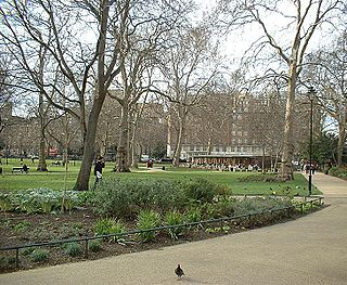 Russell Square large garden square in London, United Kingdom