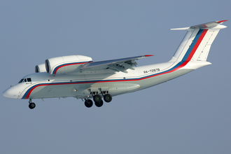 Antonov An-72 - A Russian Air Force An-72 on short final in to Chkalovsky Airport