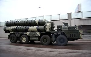 S-300PM2 launch vehicle, 2009 military parade.jpg