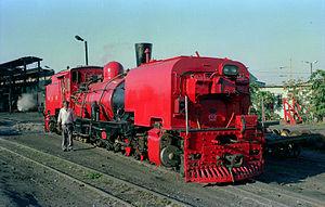 South African Class NG G16A 2-6-2+2-6-2 - Red Dragon no. 141 at Port Shepstone, May 1990