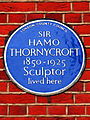 SIR HAMO THORNYCROFT 1850-1925 Sculptor lived here.jpg
