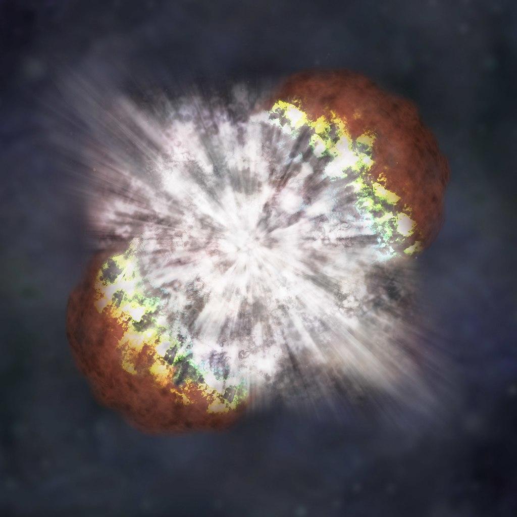 Сверхновые типа Ia чаще всего возникают при слиянии белых карликов