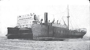 SS Liberty Glo after mine collision