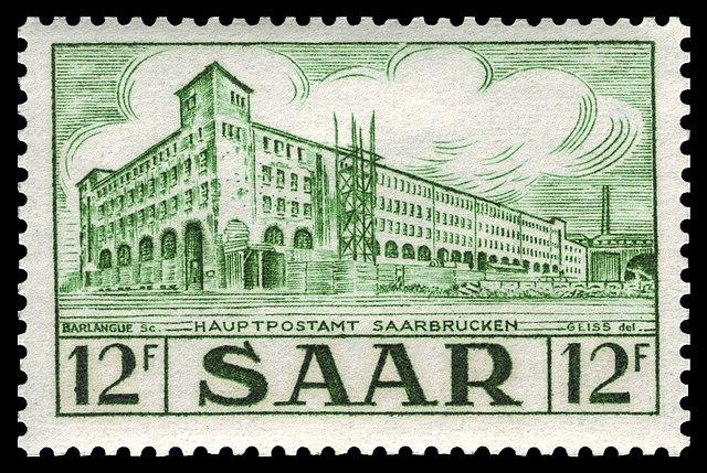 Prophila Collection Saarland 332 1953 Saaransichten Briefmarken f/ür Sammler
