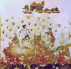 Saffron gatherers fresco