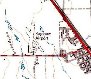 Saginaw Airport - Image: Saginaw Airport Map