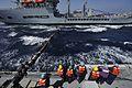 Sailors conduct a replenishment-at-sea. (8243539935).jpg