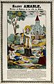 Saint Amable of Riom. Coloured line block. Wellcome V0033408.jpg