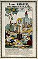 Saint Amable of Riom. Coloured line block. Wellcome V0033408.jpg