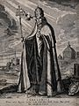 Saint Gregory the Great. Engraving by A. Hogenberg after D. Wellcome V0032164.jpg