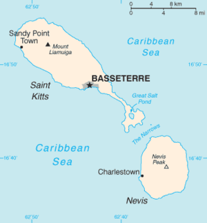 Saint Kitts and Nevis-CIA WFB Map
