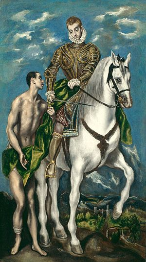 Saint Martin and the Beggar (El Greco) - Image: Saint Martin and the Beggar (c 1597 1600) by El Greco Chicago