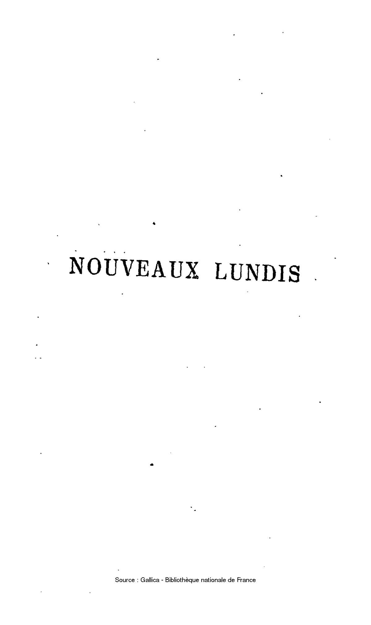 Nouveaux lundis. Tome 7 - Charles-Augustin Sainte-Beuve