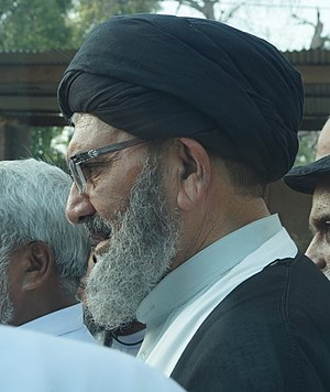 Syed Sajid Ali Naqvi - Syed Allama Sajid Ali Naqvi outside the Sahiwal Press Club.