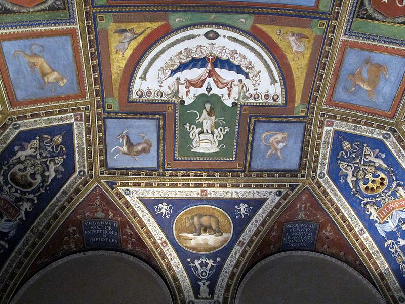 Sala dei Pontefici, volta con affreschi di giovanni da udine e pierin del vaga 02.JPG
