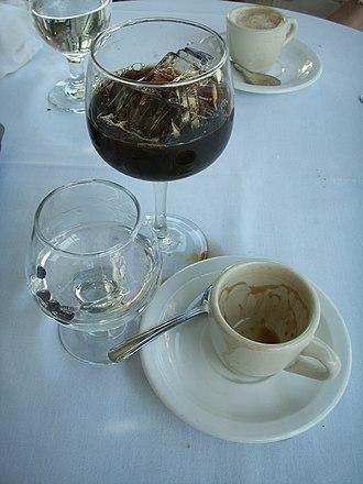 Ammazzacaffè - Sambuca, served as an ammazzacaffè