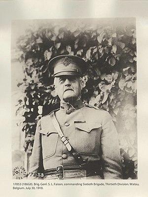 Samson L. Faison - Brigadier General Faison in Belgium 1918