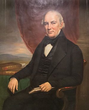 Samuel W. Bridgham - Official portrait in Providence City Hall