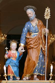 San Giuseppe, opera lignea di autore ignoto del 1738 - Catenanuova Chiesa Madre