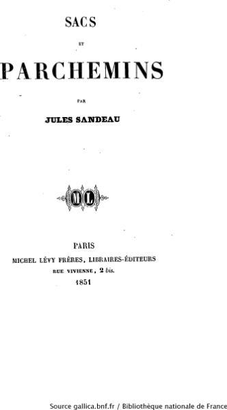 File:Sandeau - Sacs et parchemins.djvu