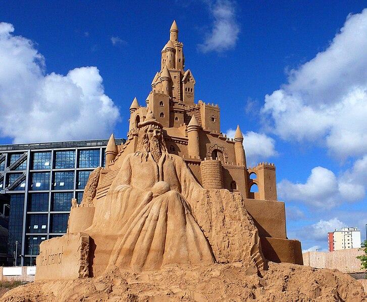 build: a giant sand castle