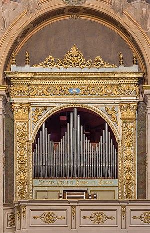 Pipe organ by Giovanni Tonoli in the Santa Maria della Carità church in Brescia.