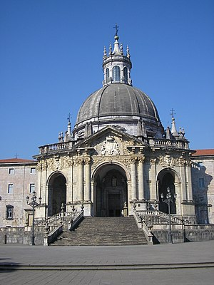 Ignatius of Loyola - Sanctuary of Loyola, in Azpeitia, built over Ignatius' birthplace