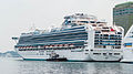 Sapphire Princess Shipped in Keelung Harbor 20140518b.jpg