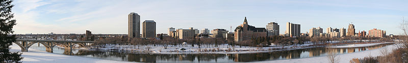 Saskatoon, Sask. skyline in winter