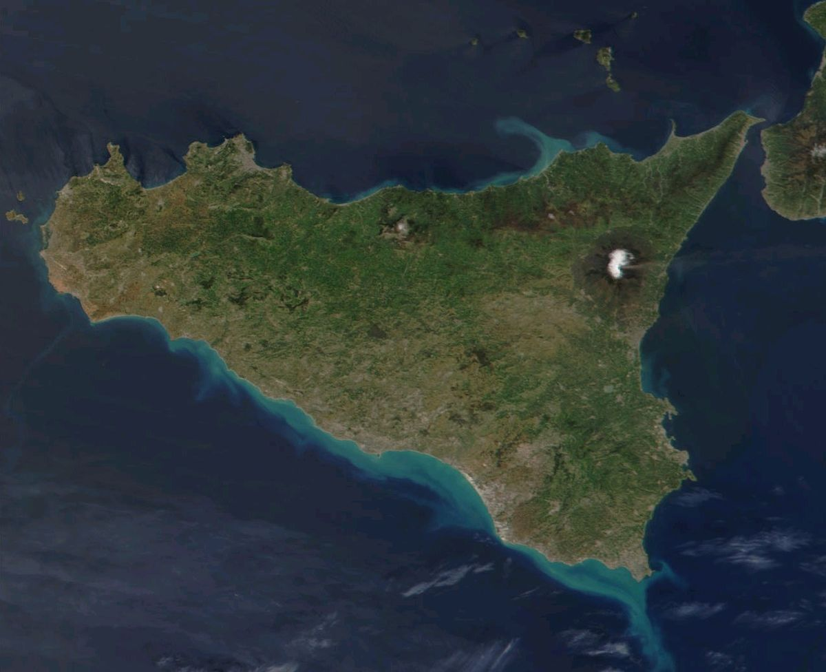 Cartina Sicilia Satellite.File Satellite Image Sicily Jpg Wikipedia