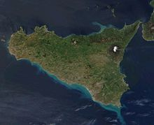 La Sicilia vista dal satellite