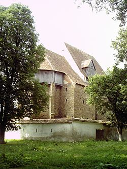 Saxon Fortified Church in Bradeni.JPG