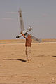 ScanEagle UAV recovery in Iraq 2005-04-17.jpg