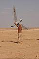 ScanEagle UAV recovery in Iraq 2005-04-17.jpg
