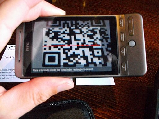 Scanning QR codes on business cards