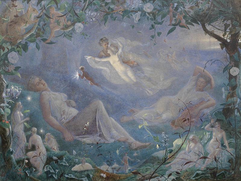 Scene from %27A Midsummer Night%27s Dream%27 by John Simmons, 1873, watercolor.jpg
