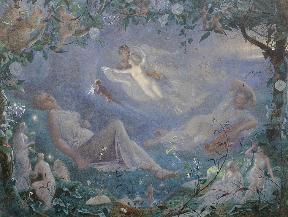 Scene from %27A Midsummer Night%27s Dream%27 by John Simmons, 1873, watercolor