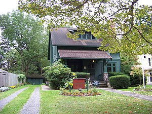 George and Gladys Scheidemantel House - Elbert Hubbard Roycroft Museum, October 2009