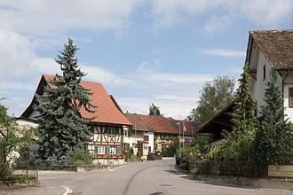 Basadingen-Schlattingen - Village street in Schlattingen