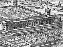 Schloss Neugebäude (Darstellung aus dem 18. Jahrhundert) (Quelle: Wikimedia)