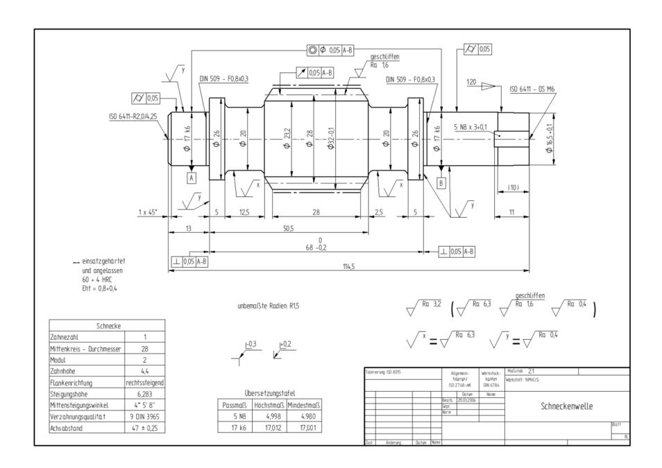 Technische Zeichnung - eAnswers