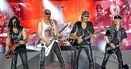 Scorpions performing at RockFest in 2015 Scorpions 2015.jpg