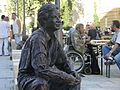 Sculpture of a homless man in Debrecen (Hungary).jpg