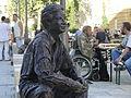 Sculpture of a homless man in Debrecen (Hungary).jpg