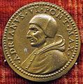 Scuola romana, medaglia di adriano VI e spirito santo, 1522-23.JPG