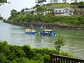 Sea tractor prepares to meet Salcombe ferry at South Sands-geograph-4068487.jpg