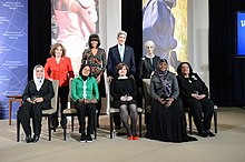 Secretary Kerry, First Lady Michelle Obama, Under Secretary Sherman, Mrs. Heinz Kerry pose with the 2013 International Women of Courage Award Winners.jpg