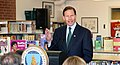 Senator Richard Blumenthal speaks during Secretary Vilsack's visit to the Henry A. Wolcott Elementary School in West Hartford, Connecticut.jpg