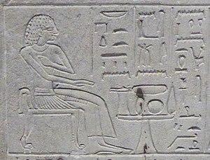 Senebi - Senebi, depicted on stela